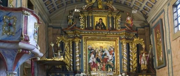 Wnętrze kościółka św. Anny