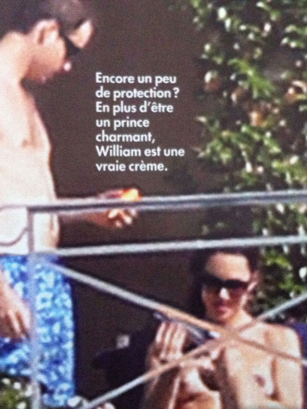 Kate Middleton naakt/topless in Franse tabloid (6)
