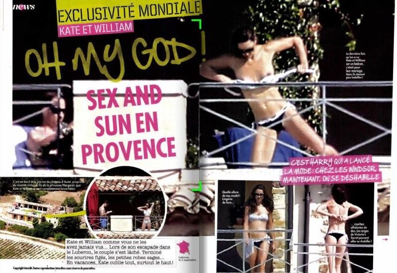 Kate Middleton naakt/topless in Franse tabloid (2)