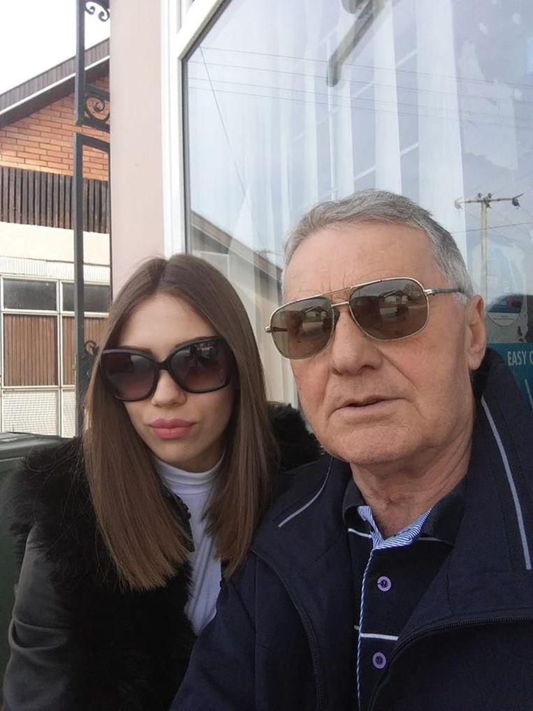Milijana Bogdanovic (21) en haar verloofde Milojko Bozic (74)