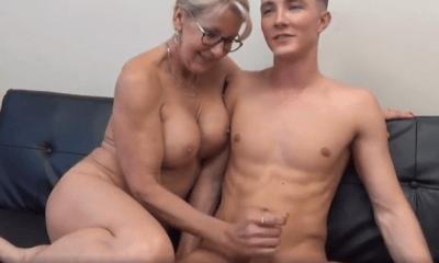 Mom fuck boy