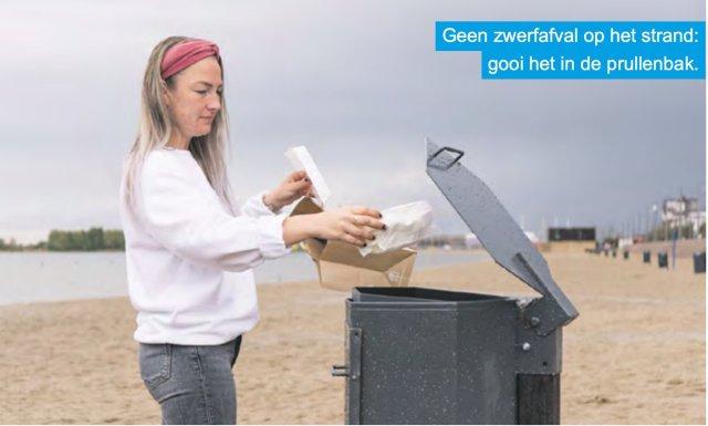 Aanpak zwerfafval op strand Nesselande