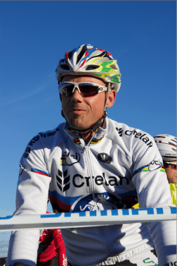 Sven bij de start in Koksijde.
