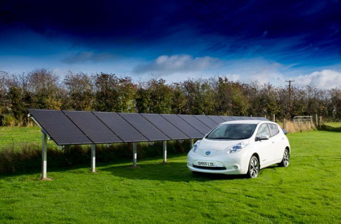 Nissan Leaf EV Charging from Solar Panels