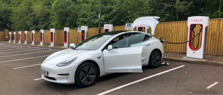 Tesla Supercharger - Perth Scotland
