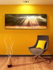 Wizualizacja obrazu na ścianie w pokoju