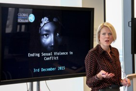 Sophie LONG. Ending Sexual Violence in Conflict event, Global Diplomatic Forum, London, England @DiplomaticForum (c) Global Diplomatic Forum