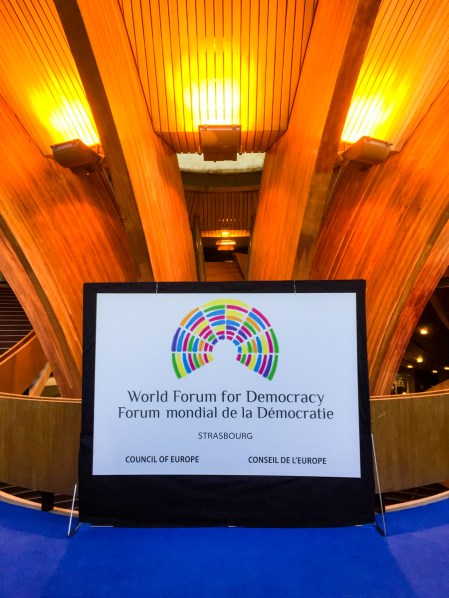 World Forum for Democracy 2016, Strasbourg, France.
