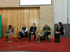 Panel discussion: Lisa ANDERSON, Colin DAVIDSON, Niall KERR, Philip ORR, and Katy RADFORD.