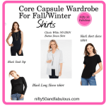 Core Capsule Wardrobe for Fall/Winter-Shirts