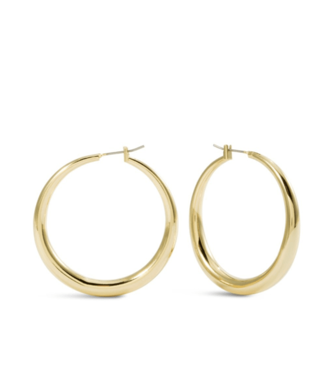 Cassie Gold Tone Hoops