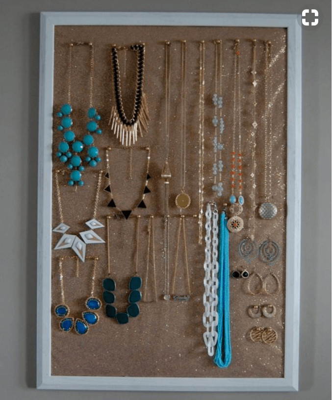 Bulletin Board For Hanging Necklaces
