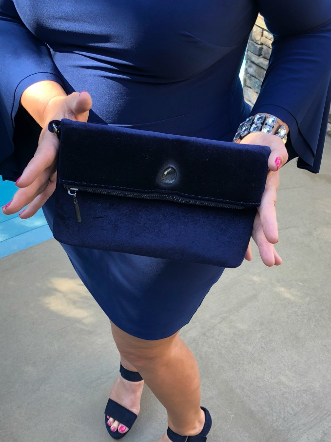 Navy clutch from Charming Charlies