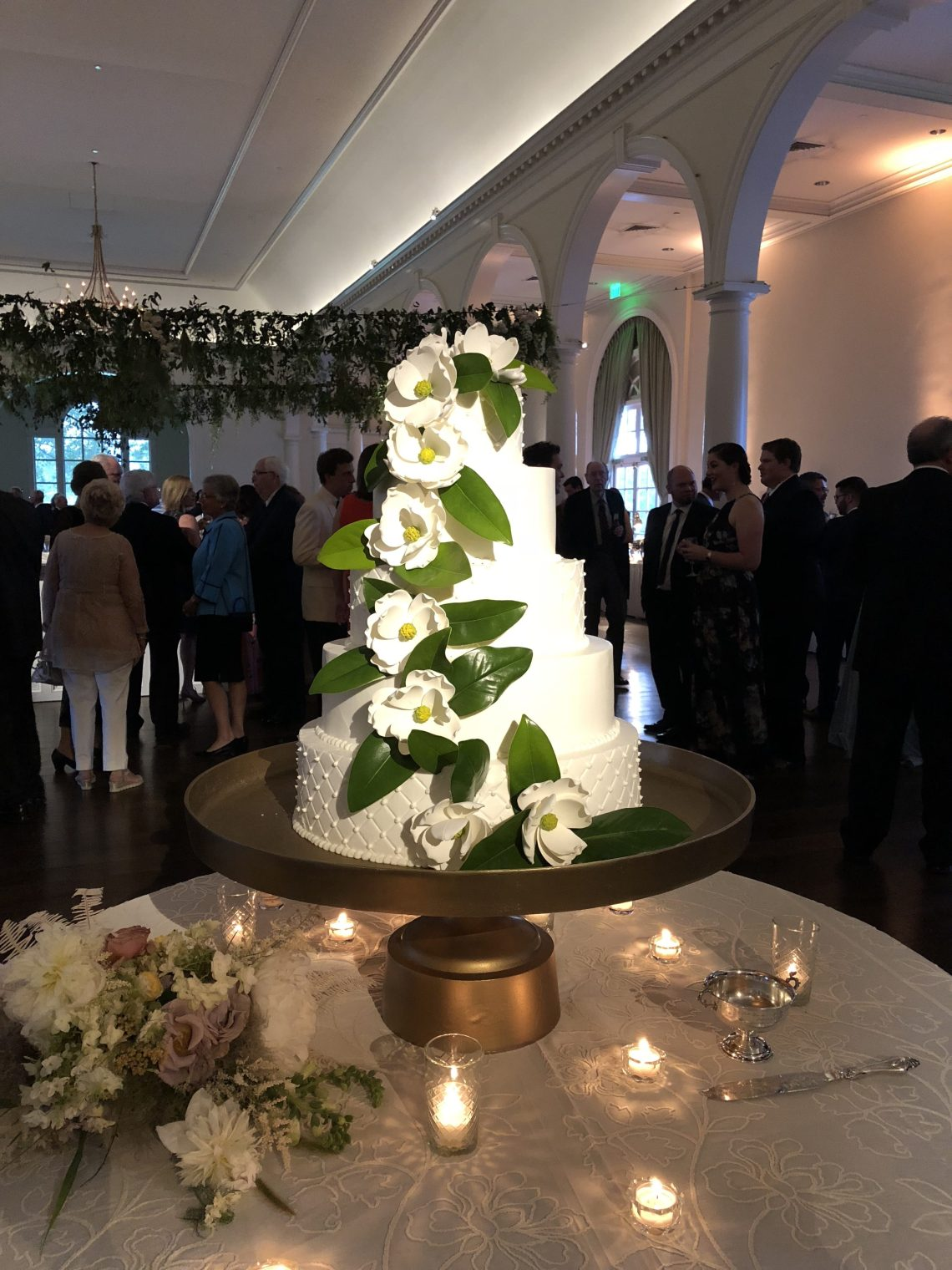 Magnolia Flower Wedding Cake
