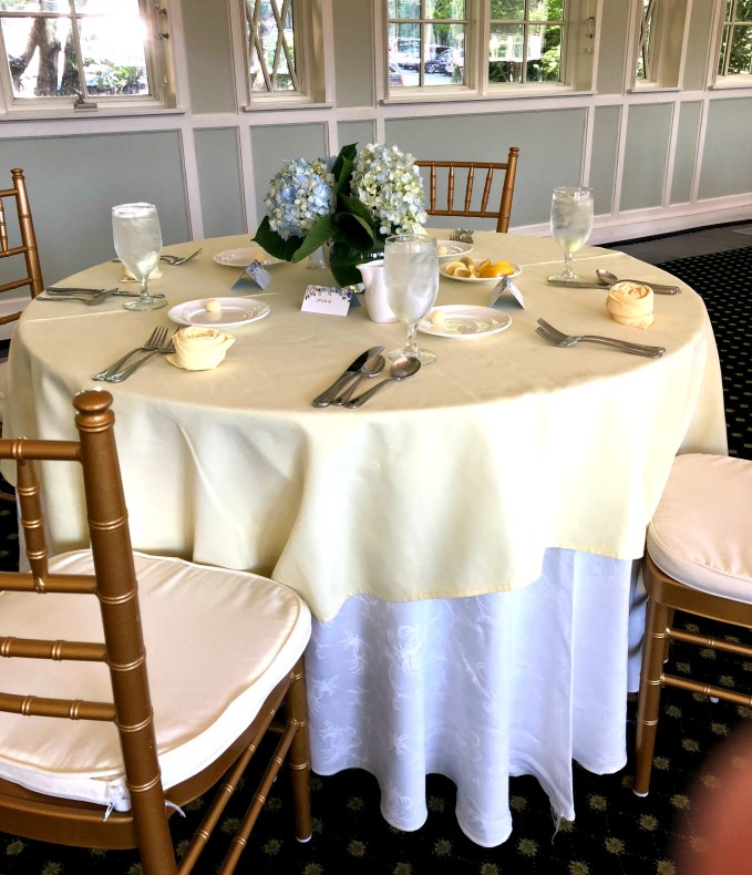 Table Set In Hydrangea Theme