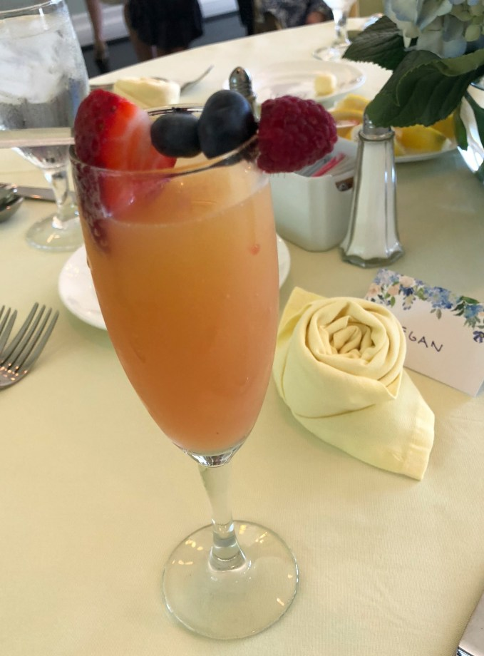 Mimosa's Served With Fruit Garnish