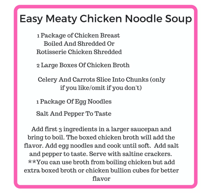 Easy Meaty Chicken Noodle Soup