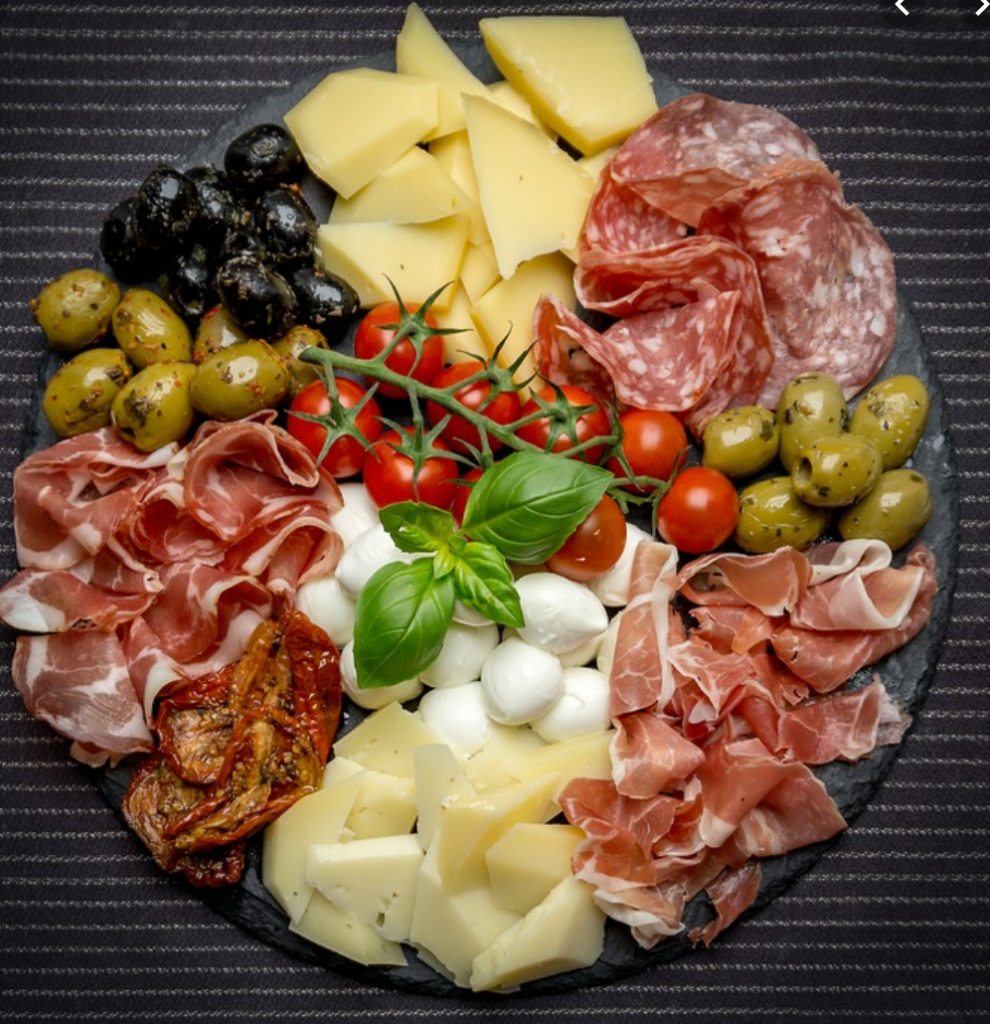 Charcuterie boards are all the rage and a great way to have sugar free munchies available for parties and events.  This detox focuses on sugar so foods like hard cheese, nuts, meats, olives, and pickles, and seeded crackers (no sugar of course) are all allowed.