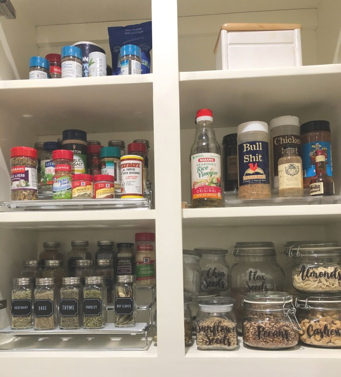 Organizing My Kitchen-Spice Cabinet