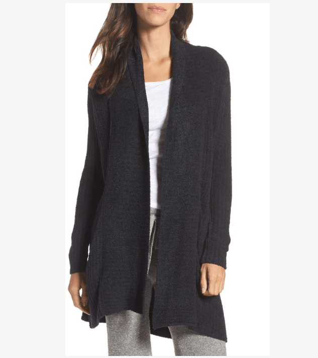 Barefoot Dreams Montecito Cardigan is a longer duster style
