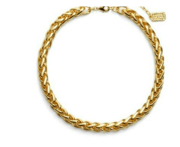 Yellow Gold necklace for warm tones