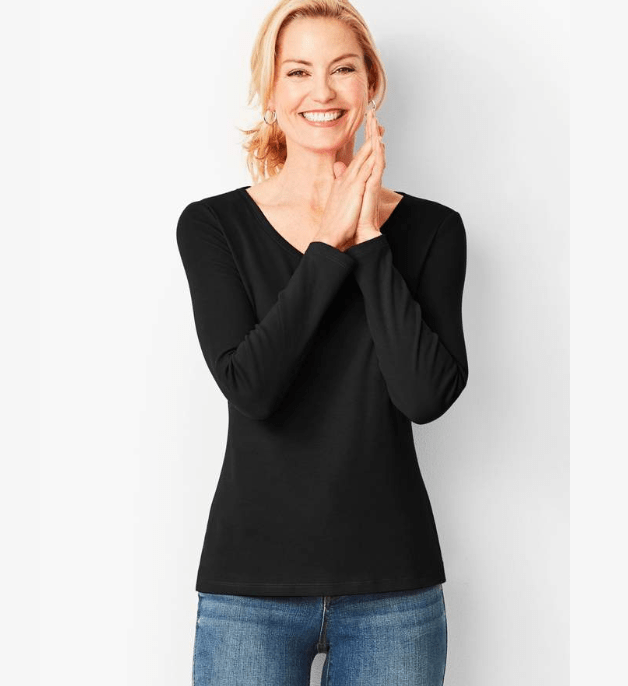 The Formula for Easy Fall Outfits- V-Neck Top