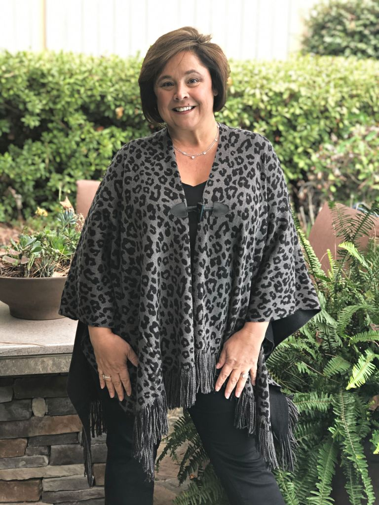 Leopard Print Poncho Add Drama And Fun