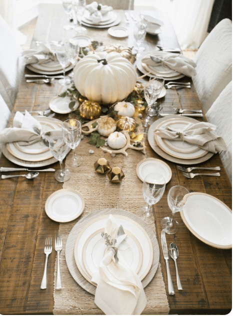 Bring out your china, crystal, and silver to set an elegant table setting for the holidays