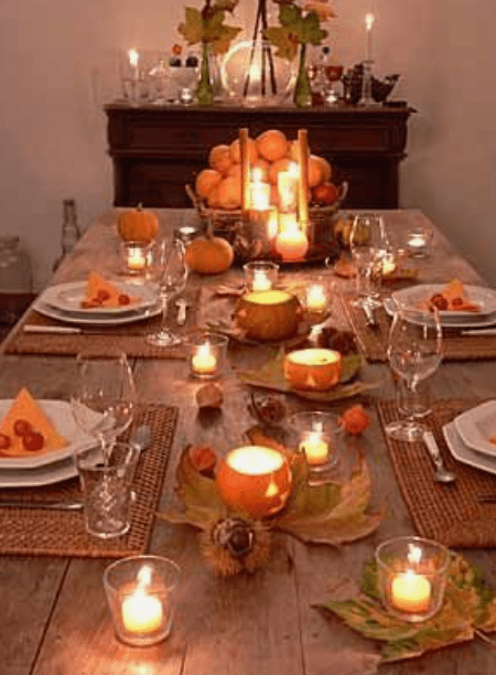 How To Create A Picture Perfect Thanksgiving Table-add lighting