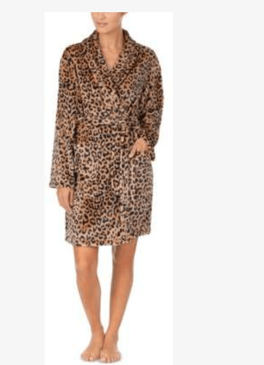 After a luxurious bath, wrap yourself in this soft and cozy chenille robe by DKNY.
