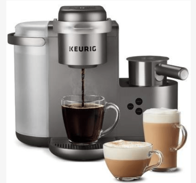 Keurig K-Cafe Special Edition Single-Serve K-Cup Pod Coffee, Latte and Cappuccino Maker is an at-home barista bar.