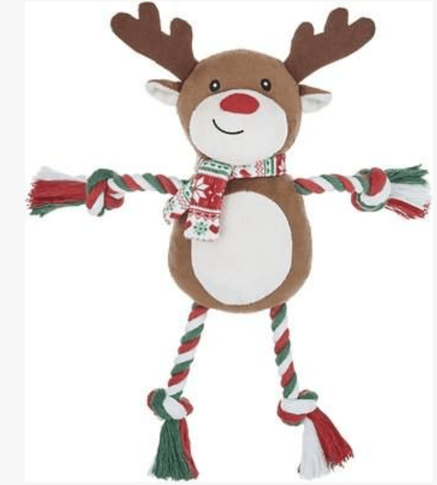 Gracie and Nora selected this Frisco Reindeer Rope Toy for hours of tugging and dragging each other around the house.