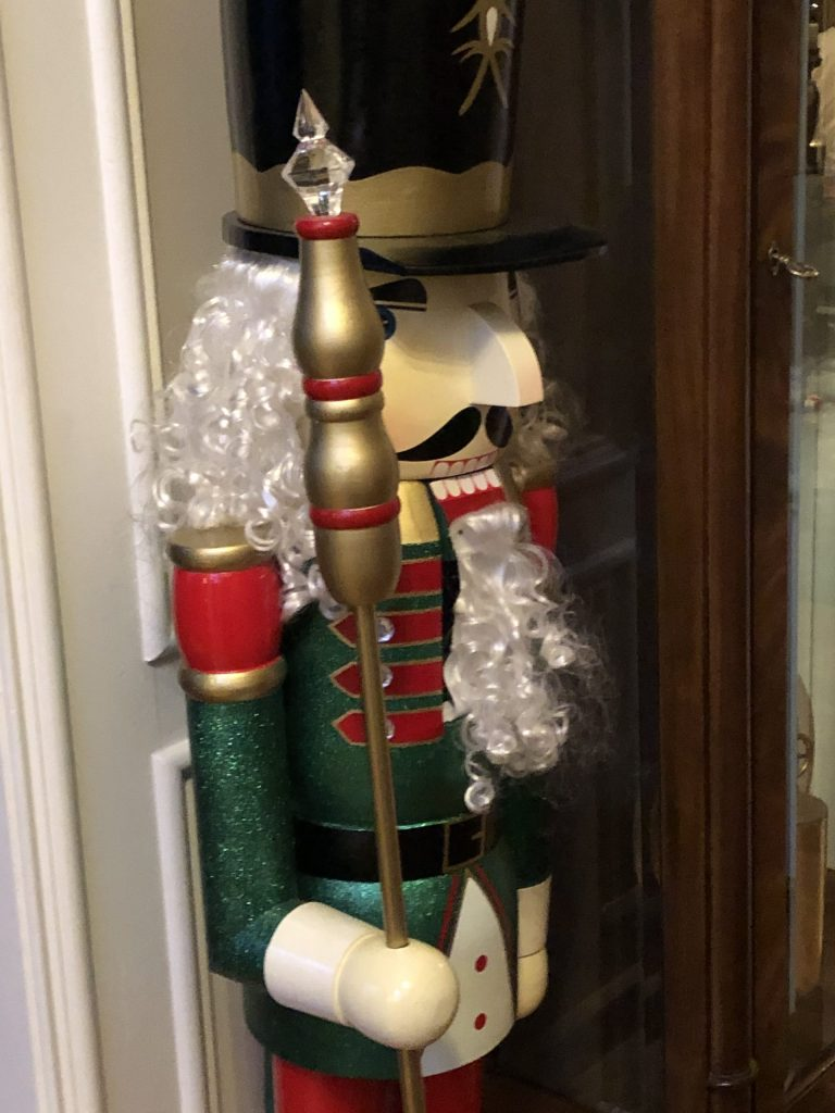 Two Giant Nutcracker Guard The Library