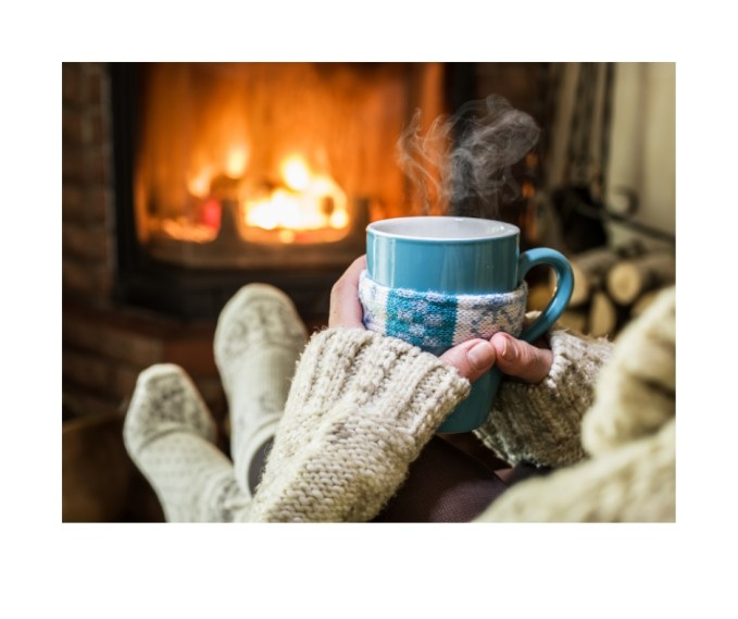Enjoy snuggling by the fire while watching the Hallmark Channel