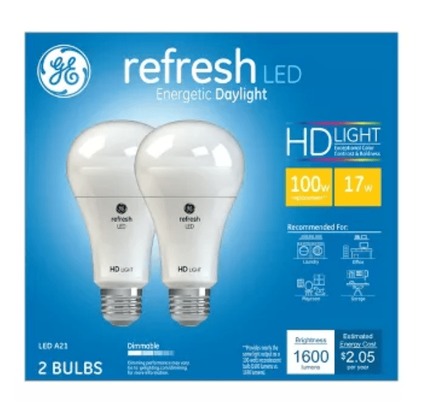 Change your bulbs to a Daylight LED  bulb for a brighter looks to your room