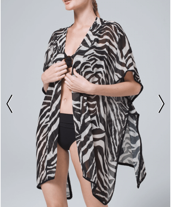 My favorite summer purchase in fashion- Zebra Swim Cover Up
