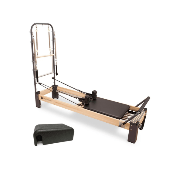 My first piece of equipment for my at home Pilates studio is the Rialto Reformer