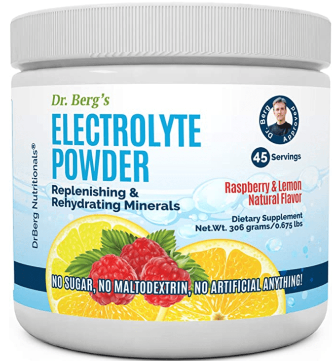 Using a non sugar electrolyte in your water, such as Dr. Berg's,  can help reduce withdrawal symptoms