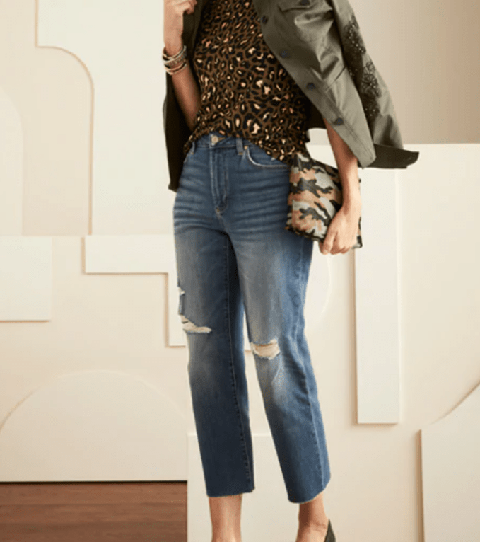Ripped jeans is a huge trend.  Do you want to bring attention to that area?