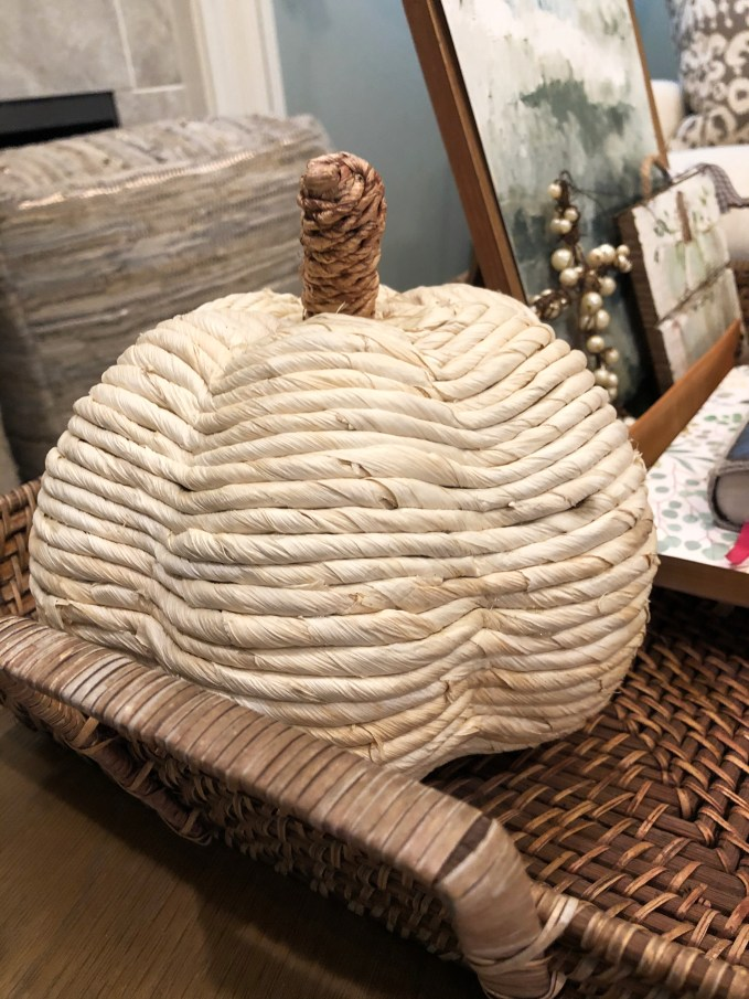 Texture is key when working with fall decor for modern look