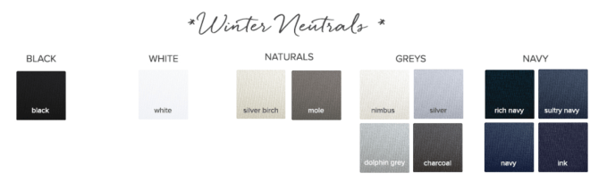 Neutrals for a Winter Seasonal Color Palette