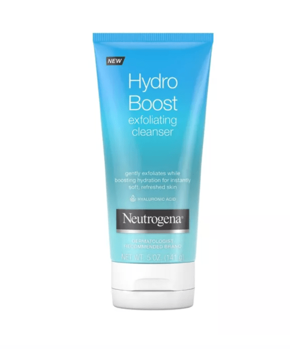 I use the Neutrogena Hydro Boost Exfoliating Cleanser. Every couple of days, usually while I am soaking in the tub, I give my facial skin to gentle exfoliating treatment.