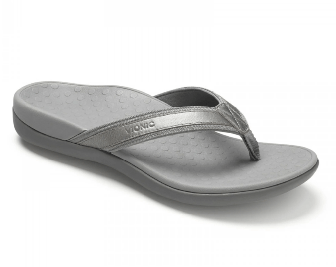 Vionic makes a great sandal for arch support to help ease pain and give support during healing process