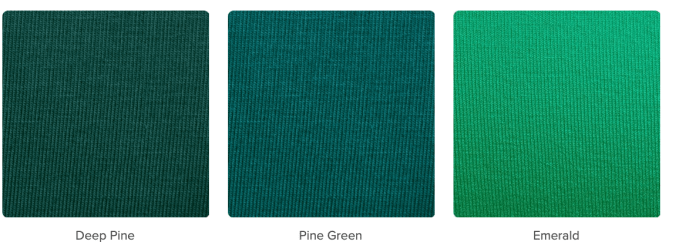 From the deepest dark pine to the bright emerald, lots to chose when playing with greens