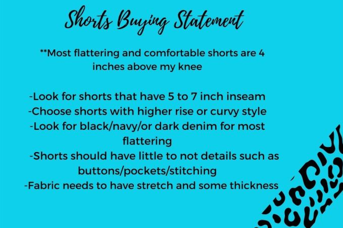 Buying Shorts For Spring/Summer-Write a Short Buying Statement to help you while shopping online