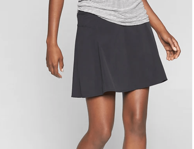 All Day Skort from Athleta is make of super light weight material and a little longer in length