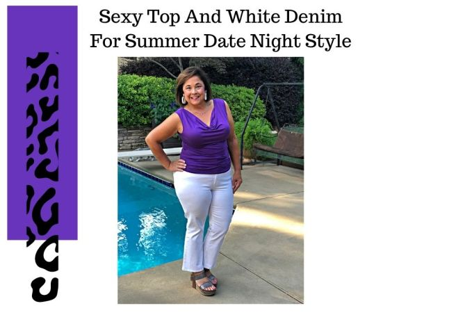Sexy Top And Denim For Summer Date Night Style