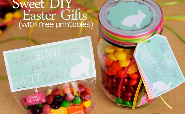 2 Sweet Diy Easter Gift Ideas With Printable Tags