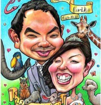 結婚式に人気の似顔絵ウェルカムボード