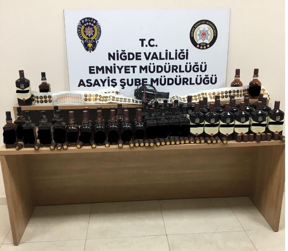Polis kaçak alkol ele geçirdi: 4 gözaltı